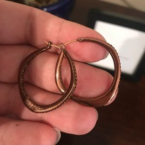 Fossil Jeweled hoops